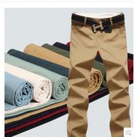 Großhandels-Männer-Sommerhosen 2015 neue dünne Baumwolle Waschen Männer Casual Hosen, Männer-Sporthosen, freies Verschiffen 12 Größe 9 Farbe