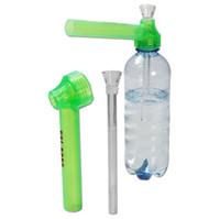 Reisen Reisen Wasser top Puff toppuff Glas Bong tragbare Rauchen Rohr sofort tragbare Schraube auf Flasche Konverter gemischte Farbe