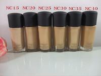 HOT Makeup SPF 15 Foundation líquido 30ML alta qualidade 144 unidades / lote DHL GRÁTIS