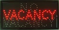 VACANCE / AUCUN hôtel motel Magasin à LED Ouverture au néon des enseignes Panneau vacant Commutateur Livraison gratuite de la chaîne