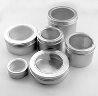 25ml 60 ml 100 ml de aluminio cosmético poner crema tapa de la ventana, 150 ml de metal jarras, 180 ml caja de aluminio, embalaje latas de contenedores