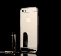 Pare-chocs en métal avec cadre Electroplated acrylique Miroir de cas pour l'iPhone 11 Pro Max XS XR 6 7 8 Plus Samsung S8 S9 S10 Note 10 J4 J6 A9 A50 A30