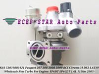K03 53039880121 Turbo Turbocompresseur pour Peugeot 207 308 3008 5008 RCZ Citroën C4 DS 3 2005- EP6CDT 1.6THP 1.6L 110kw avec soupape électronique