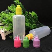Ücretsiz Kargo E Likit Plastik damla şişeleri 100ml Göz Damlası Şişe çocukların açamayacağı Cap Uzun İnce İpucu plastik şişe