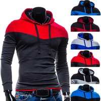 2017 Mens Hoodies& Sweatshirts Patchwork Hoodies Mens Bra...