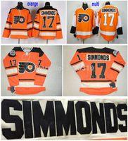 2016 Yeni, Philadelphia Flyers Wayne Simmonds Jersey # 17 Turuncu Ucuz Toptan 2012 Kış Klasik Hokey Formalar Dikişli En Kaliteli