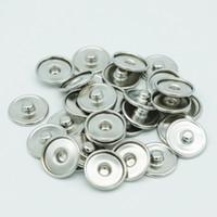 Ordine minimo 100 pezzi 18mm Pezzi di ricambio Noosa fai-da-te Ginger Snap Base Accessori intercambiabili per base bottone a scatto gioielli