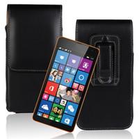 1PCS transporte da gota Wasit Titular Voltar Licche padrão de capa de cinto para Microsoft Lumia 532