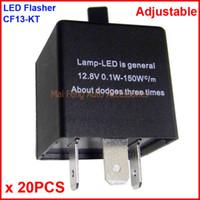 20PCS CF13-KT LED intermitente Color ajustable 3 pines Módulo de relé electrónico Fix Coche LED SMD Señal de giro Error parpadeante intermitente 12V 0.02A A 20A