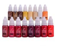 23 Adet / grup İngiltere KIAY Kaş Eyeliner Dudak Kalıcı Makyaj Dövme mürekkep Mikro pigment Kozmetik Renkler