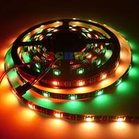 Comercio al por mayor 500 m 100x5M Nueva Junta WS2812B WS2812 30 Led / M LED Luz de Tira WS2811 IC 5050 RGB SMD Negro PCB Impermeable IP65 DC5V