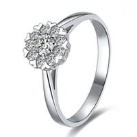 100% 925 Silber 1 ct Kissen geschnitten simuliert Diamant Halo Verlobungsringe für Frauen Schmuck, 18 Karat Weißgold vergoldet Ehering