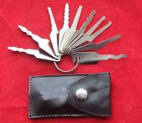 2 set / pacchetto Pick Lock strumento fabbro, serratura pick Jigglers per Double Sided Lock 10 pezzi, Auto Jigglers per Double Sided Lock10 tasti
