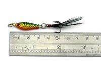 Hengjia caldo di vendita 200pcs / lot che affonda esche da pesca 4 colori 2,5 centimetri 6.4g di piombo testa giga esca attrezzatura da pesca con piuma