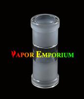 Al por mayor adaptador de adaptador de vidrio Femenino a Femenino bong fumar derecho acessories accesorios de tubería de fumar envío gratis