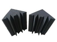 12 pièges acoustiques noirs de studio de mousse de charbon de bois insonorisés de studio noir