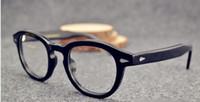 2015 Yeni moda gözlüğü gözlük vintage Perçinler güneş gözlüğü Süper Yıldız Johnny Depp kadın erkek marka gözlük gafas okülo ...