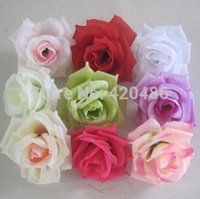 wholesale High Quality 10CM Artificial Silk Rose Head Flower...