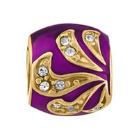 Venda diretamente da fábrica Esmalte cores de Cristal pavimentada flor Faberge Egg Charme Moda Rushion Ovo Beads Serve para Pulseiras