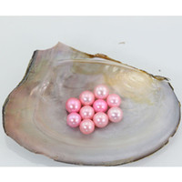 Pink Natural Color 6- 7MM Round Freshwater Pearls in Oysters ...