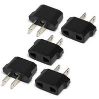 US USA zu EU / EU AU zu US Euro Europe Power Converter Adapter Jack Wall Plug Converter Travel Adapter 50pcs Kostenloser Versand