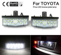 2X Автомобильные светодиодные фонари освещения номерного знака 12V SMD3528 Светодиодный номерной знак Лампа лампы Kit для Toyota Prius ZVW30 Матрица Venza для Lexus CT200H