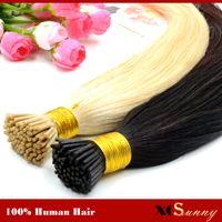 "XCSUNNY I Tip Virgin Hair Extensions 18 ""20"" Extensions cheveux naturels Kératine 100 g 1 g / s I Tip Human Hair Extensions Ombre"