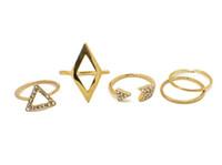 الذهب الأوروبي حجر الراين مطلي الاسلوب المناسب المعين المثلث السهام الماس مجموعات عصابة ميدي 5 قطع لمجموعة واحدة