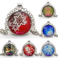 Новое прибытие Рождество ювелирные изделия кабошон ожерелье с Рождеством Снежинка ожерелье ювелирные изделия для веселого Рождества подарок ювелирных изделий