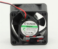 Оптовая продажа: подлинный SUNON HA40201V4-0000-C99 40 * 40 * 20 4см 12V 0.6W 2 линия магнитной левитации немой вентилятор