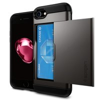 SGP caso spigen Slide Card slot Carteira identificação do Caso dupla Layered -ShoAntick Protector para iPhone11 pro max x r 7/8 mais Samsung Nota 10/9 S10 S9