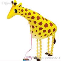 Frete grátis !!! 50pcs / lots s andando balões pet, girafa animal balões, balões de hélio
