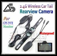 무선 자동차 후방 카메라 역방향 와이드 뷰 AV IN 기능 주차 센서가 장착 된 GPS 용 비전