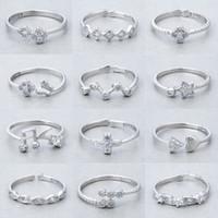 Ordine misto 20pcs / lot 925 anelli dell'argento sterlina di stile del partito dei monili di modo Regalo di Natale di qualità superiore trasporto libero