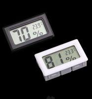 Mini negro blanco LCD digital termómetro integrado Higrómetro temperatura humedad metro termómetro interior envío gratis