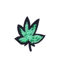 10pcs 녹색 잎 의류 철에 대한 의류 철에 대 한 패치를 송금 청바지 가방에 대 한 Applique 패치 자수에 대 한 DIY 바느질