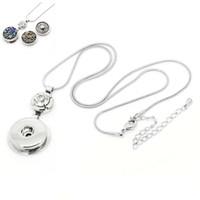 NOOSA Collares de jengibre K cierre de langosta blanca Colgante Noosa con cadena de serpiente collar botón a presión de personalidad