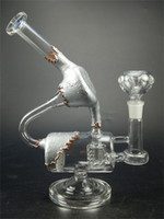 In Stock Beaker Base Glass Water Bong Cage Perc and Honeycom...