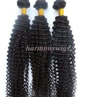 버진 인간의 머리카락 Wefts 브라질의 머리카락 번들 곱슬 곱슬 직물 8-34In 처리되지 않은 페루 인도의 말레이시아 몽골어 머리 익스텐션