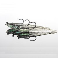 New 2015 100Pcs 70mm 6g Pesca Soft Bait Fishing Lure Lead Ji...