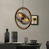 Hohe qualität eisen fan 3 lichter pendelleuchte led bar cafe schlafzimmer restaurant hängelampe vintage klassische kunst stil ac110w-220w llfa