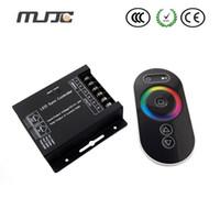 Contrôle à distance sans fil du contrôleur 12-24V 24A 288W 3Channel RF de panneau tactile de MJJC pour la lumière menée imperméable de bande de RVB