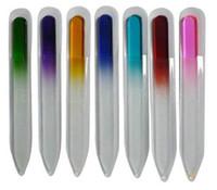 14cm moda colorido cristal de cristal de cristal búfer artes buffer archivos de búfer para manicure uv polaco herramienta de clavo arte