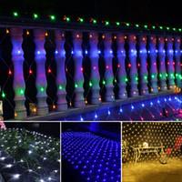 СВЕТОДИОДНЫЕ СЕТЬ гирлянды Рождество Открытый водонепроницаемый сетка Сказочный свет 2 м * 3 м 4 м * 6 м Свадьба свет с 8 функций контроллера
