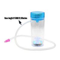 Yeni Nargile Set Akrilik Nargile Nargile Chicha Narguile Nargile Akrilik Plastik Sigara Su Boruları LED Çakmak Cam Sigara Boru Yağ Rig