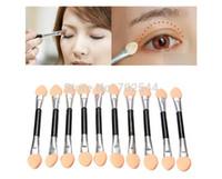 All'ingrosso Usa e getta Make Up EyeShadow Pennello applicatore a doppia testa Spugna ombretto pennello (1000 pezzi / lotto) + spedizione gratuita