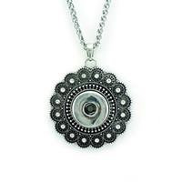 Mode Anhänger Halsketten Infinity Ketten Retro 18mm Austauschbare Ingwer Druckknöpfe Erklärung Halsketten Für Männer Schmuck