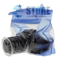 Mavi Su Geçirmez Dijital Kamera DSLR Kılıf Sualtı Dalış Yüzer Kılıfı Konut Kuru Çanta Canon Sony Nikon D7000 Için