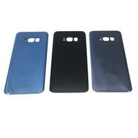 100 STÜCKE Original Batteriefach Zurück Gehäusedeckel Glasabdeckung für Samsung Galaxy S8 G950 G950P S8 Plus G955P mit Kleber Aufkleber
