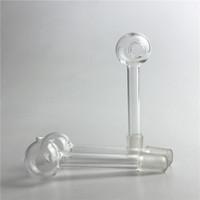 Прямые 10 мм мужской стекло масло горелки трубы с 3 дюйма толщиной Pyrex стекла водопроводные трубы мини курительная трубка для стекла Бонг